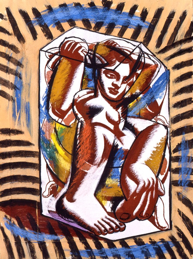 1993-house-in-a-field-1-casein-pastel-on-paper-56x75-5-cm