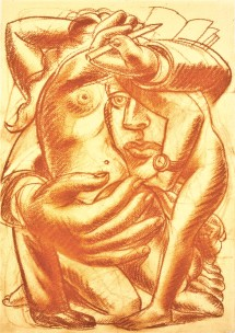 1992-novella-sangine-on-paper-24-3x35cm