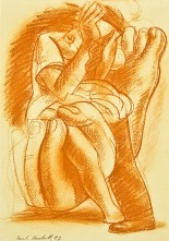1992-study-for-the-sigh-2-sanguine-on-paper-24-3x35-cm
