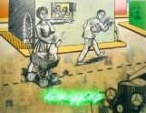 2009-2012-kidnapping-oil-mixed-media-and-neon-on-canvas-140x180-cm
