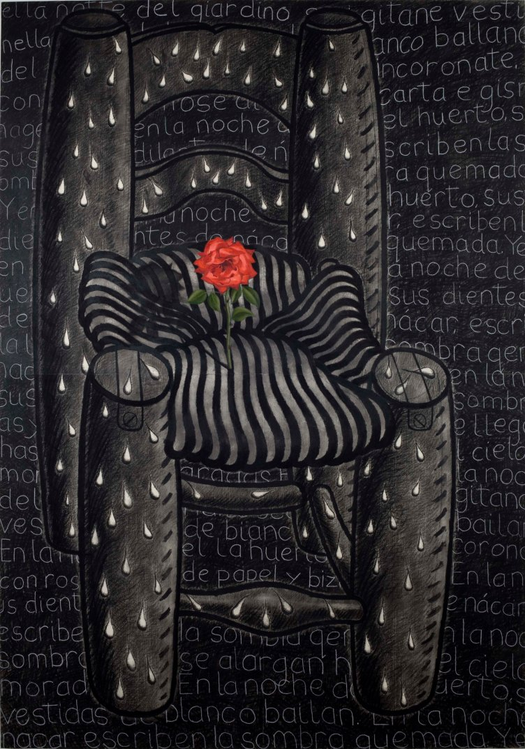 chair-of-tears-oil-charcoal-and-chalk-on-paper-1996