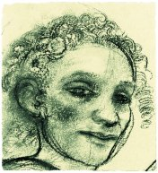 head-charcoal-on-paper-22x24cm-1986