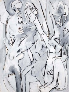 knee-jerk-charcoal-and-gesso-on-paper-1975