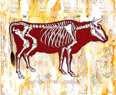 mad-cow-from-london-oil-and-mixed-media-on-canvas-51x130x150cm59-inches